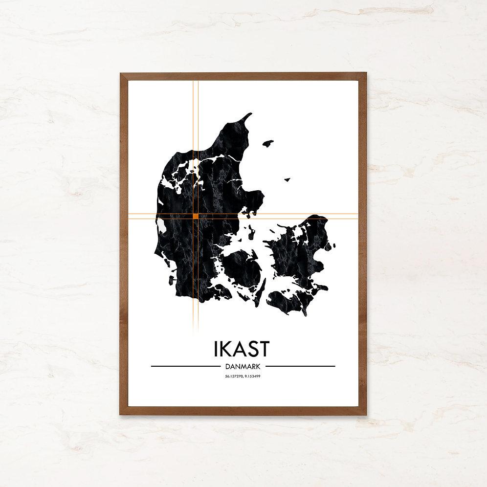 Ikast Plakat Danmarkskort Imagi