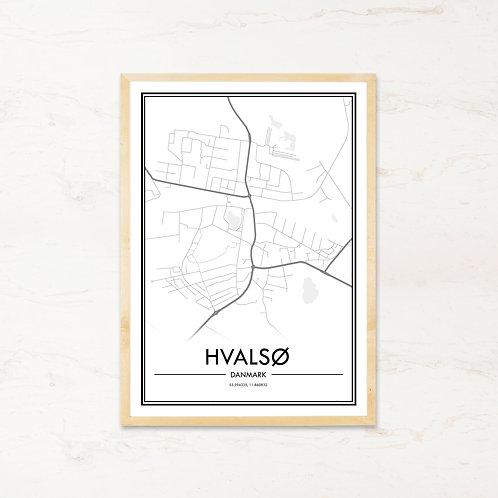 Hvalsø plakat - Byplakat fra IMAGI.dk