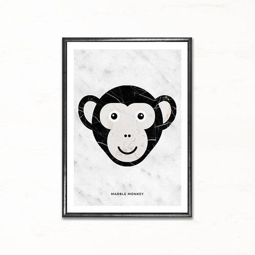 Aben - plakat med marmormotiv