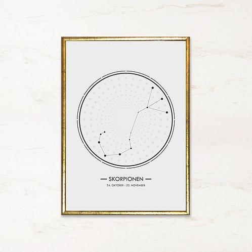 Skorpionen - Plakat af stjernetegn