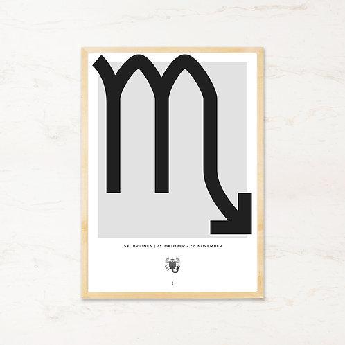 Skorpionen stjernetegn - Plakat