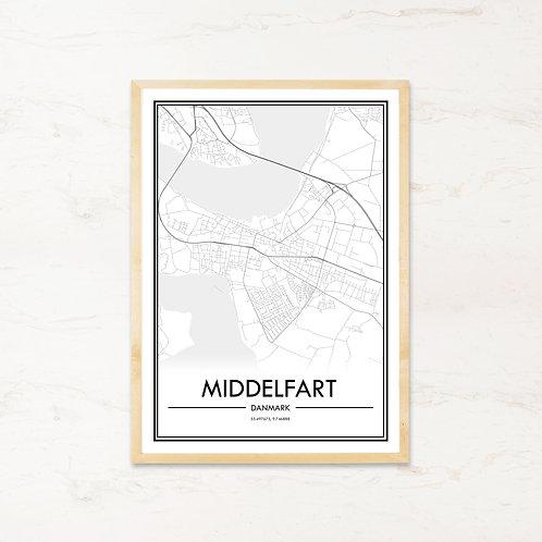Middelfart plakat - Byplakat fra IMAGI.dk