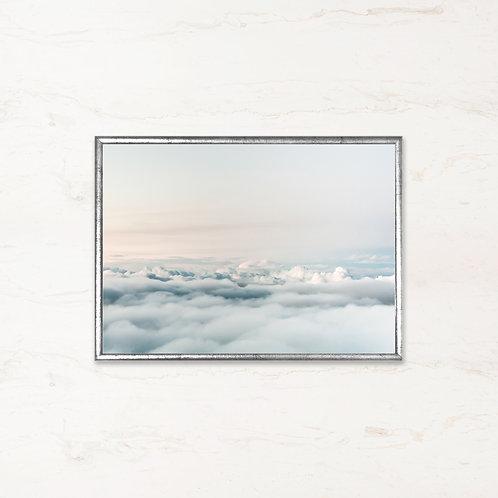 Over skyerne - Plakat af landskabet