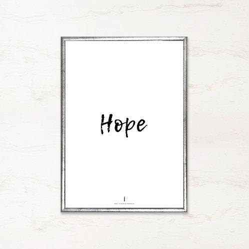 Citatplakat - Hope