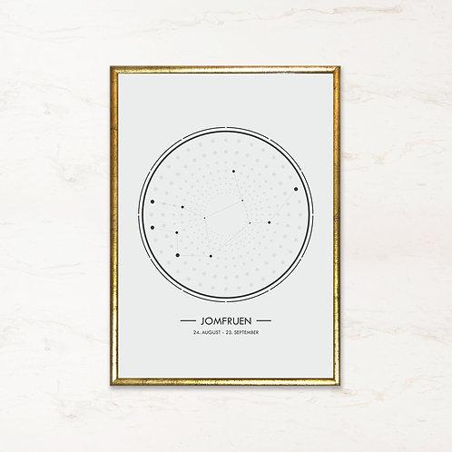 Jomfruen - Plakat af stjernetegn