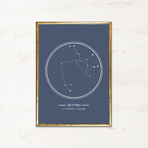 Skytten - Plakat af stjernetegn
