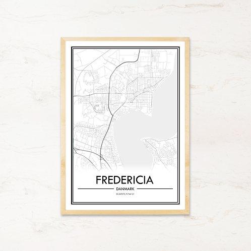 Fredericia plakat - Byplakat fra IMAGI.dk