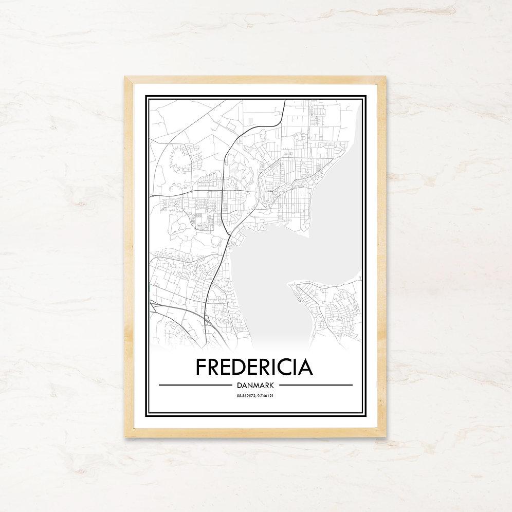 Fredericia Plakat Med Bykort Kob Billige Byplakater Pa Imagi Dk