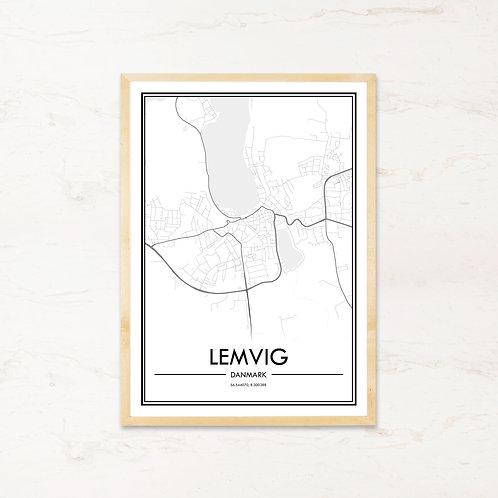 Lemvig plakat - Byplakat fra IMAGI.dk