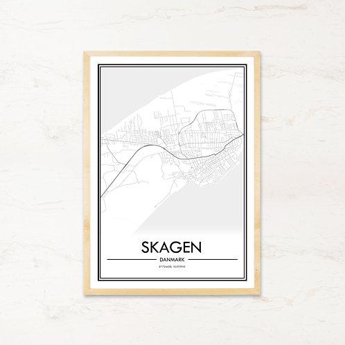 Skagen plakat - Byplakat fra IMAGI.dk