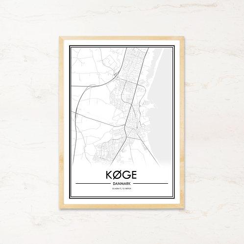 Køge plakat - Byplakat fra IMAGI.dk