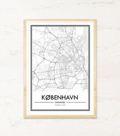 Plakat med byplakat af København