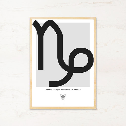 Stenbukken stjernetegn - Plakat