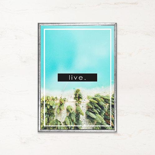 Live. - Citatplakat