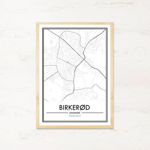 Birkerød plakat - Byplakat fra IMAGI.dk