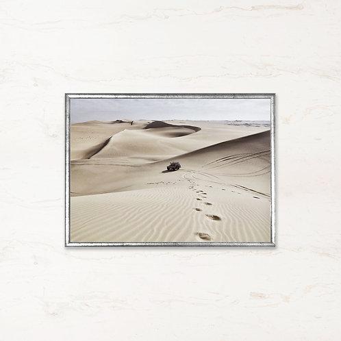 Næsten Øde - Plakat af landskabet