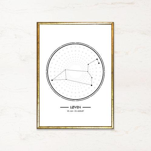 Løven - Plakat af stjernetegn