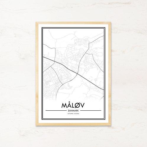 Måløv plakat - Byplakat fra IMAGI.dk