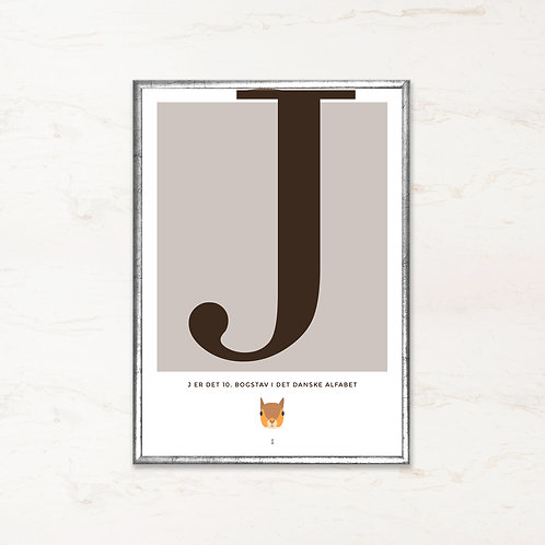 J - Bogstavsplakat