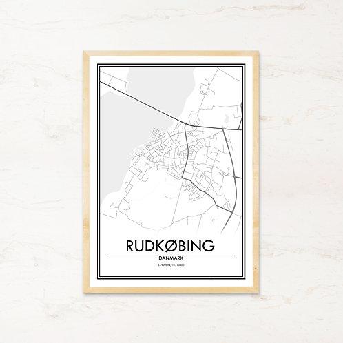 Rudkøbing plakat - Byplakat fra IMAGI.dk