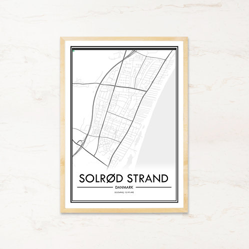 Solrød Strand plakat - Byplakat fra IMAGI.dk