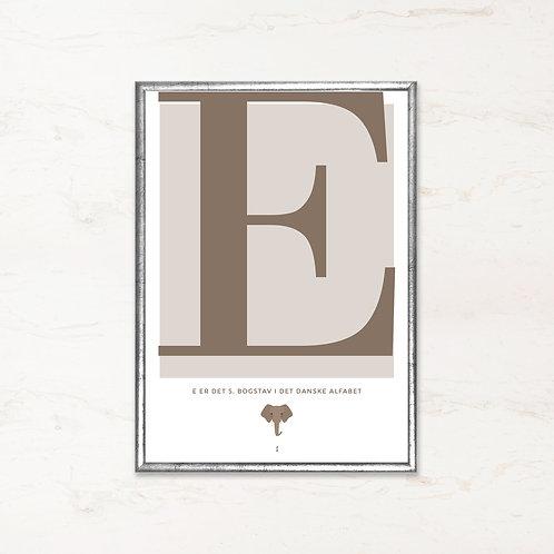 E - Bogstavsplakat