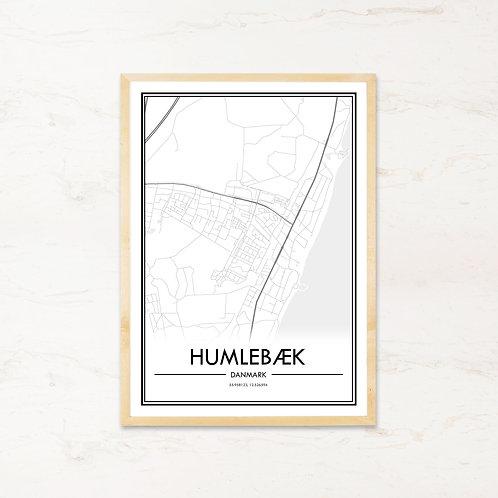 Humlebæk plakat - Byplakat fra IMAGI.dk
