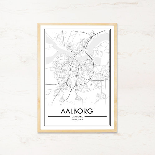 Aalborg plakat - Byplakat fra IMAGI.dk