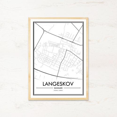 Langeskov plakat - Byplakat fra IMAGI.dk
