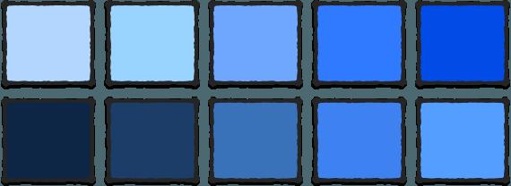 Nuancer af blå på IMAGI BLOG