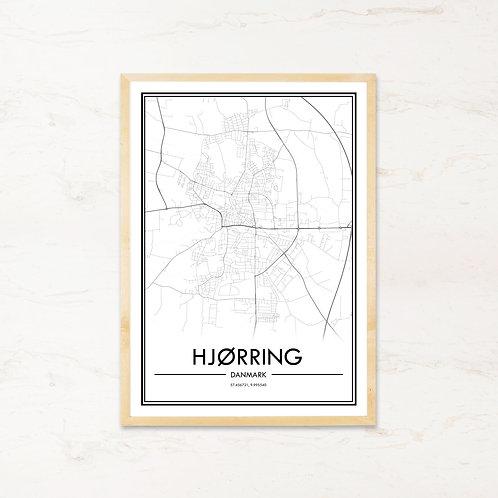 Hjørring plakat - Byplakat fra IMAGI.dk
