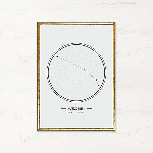 Vædderen - Plakat af stjernetegn