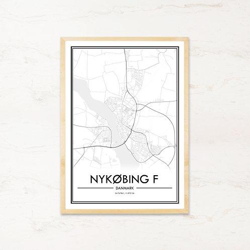 Nykøbing F plakat - Byplakat fra IMAGI.dk