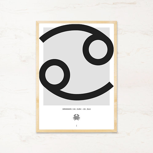 Krebsen stjernetegn - Plakat