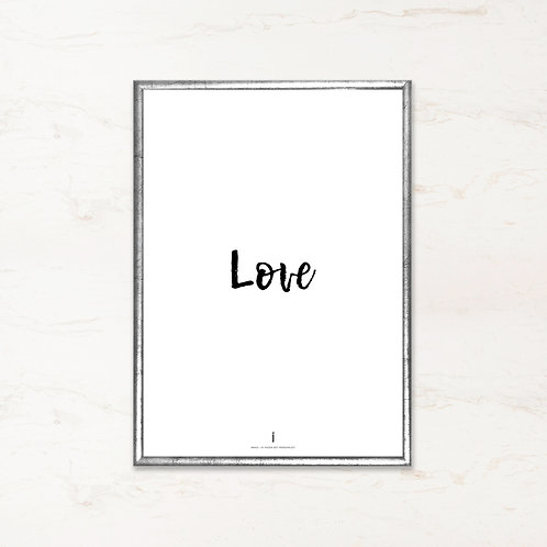 Citatplakat - Love