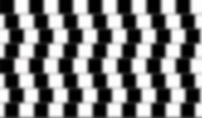 Optisk illusion med paralelle linjer