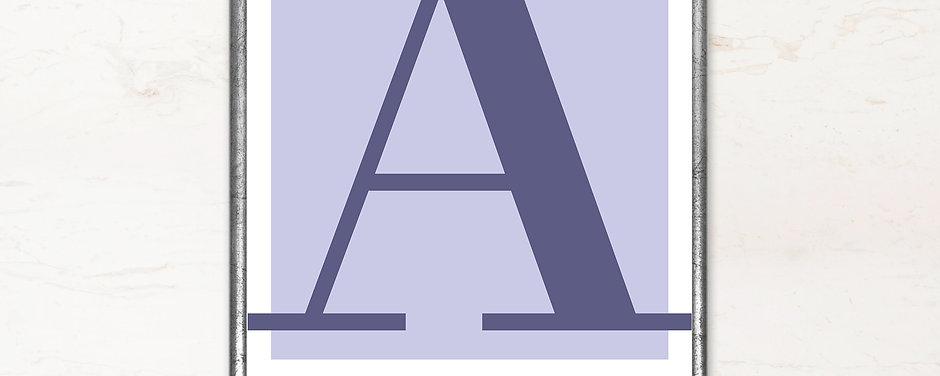 A - Bogstavsplakat