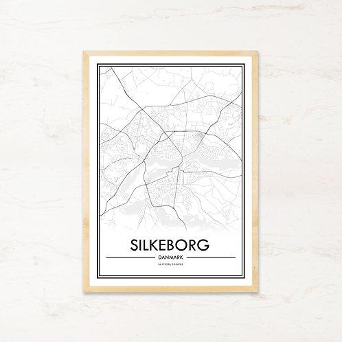 Silkeborg plakat - Byplakat fra IMAGI.dk