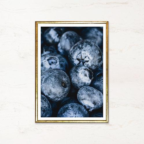 Blåbær - plakat