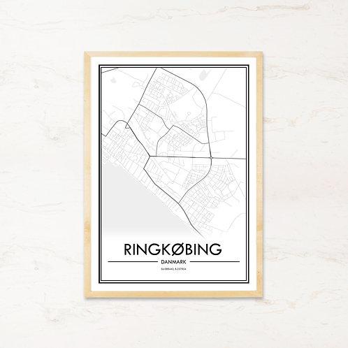 Ringkøbing plakat - Byplakat fra IMAGI.dk
