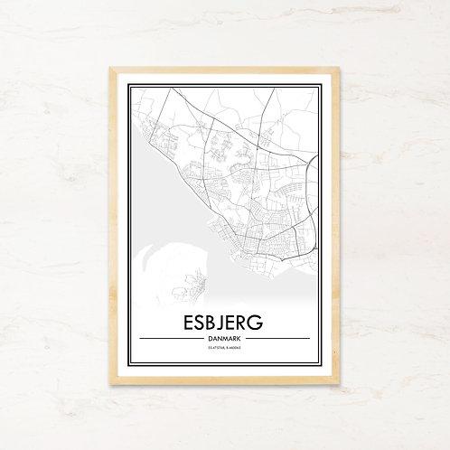 Esbjerg plakat - Byplakat fra IMAGI.dk