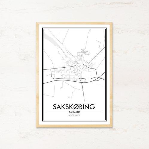 Sakskøbing plakat - Byplakat fra IMAGI.dk