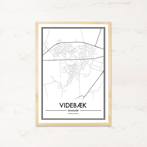 Videbæk plakat - Byplakat fra IMAGI.dk