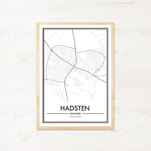 Hadsten plakat - Byplakat fra IMAGI.dk