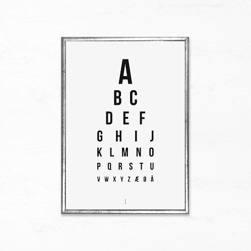 Synstavle plakat - Alfabetet