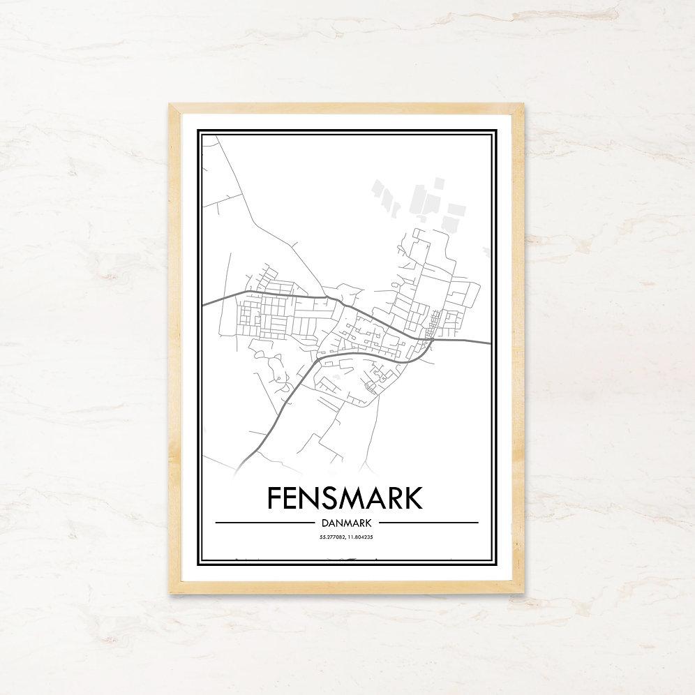 Fensmark Plakat Med Bykort Kob Billige Byplakater Pa Imagi Dk