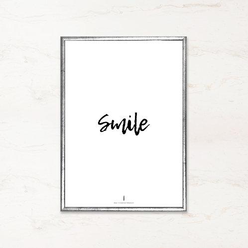 Citatplakat - Smile