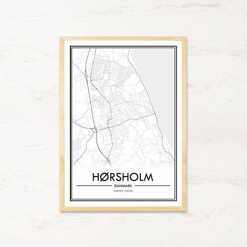 Hørsholm plakat - Byplakat fra IMAGI.dk