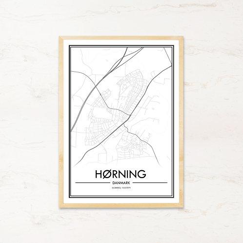 Hørning plakat - Byplakat fra IMAGI.dk