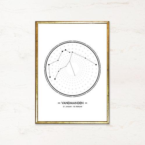 Vandmanden - Plakat af stjernetegn
